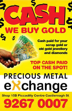 Sell Gold, Exchange